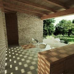 Balcones y terrazas de estilo rural de GET ARQUITECTURA Rural