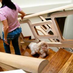 Corridor & hallway by GD Studio CA, Minimalist Wood Wood effect