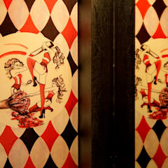 Bespoke wallpaper detail:  Bars & clubs by Rebecca James Studio