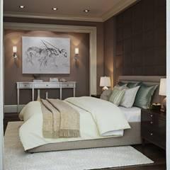 Квартира в ЖК Скай Форт: Спальни в . Автор – MARION STUDIO, Эклектичный