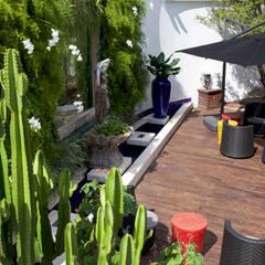 obra residêncial scs: Jardins  por Sandra Sanches Arq e Design de Interiores