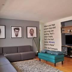 Apartamento torres de chico : Salas de estilo  por Davecube Design