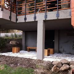 Terraza inferior Gazzebo B17 después de remodelacion: Terrazas de estilo  por Vertice Oficina de Arquitectura