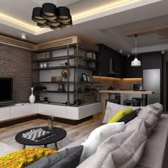 Ceren Torun Yiğit  – Stüdyo Daire Tasarımı: minimal tarz tarz Oturma Odası