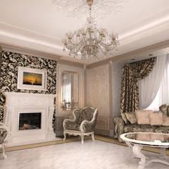 Salon de style  par Студия Маликова, Classique