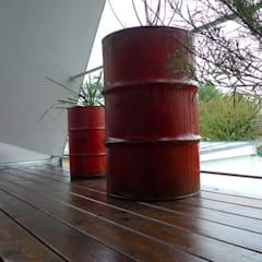 barrels recycled:  Terrasse von neubert und fuchs_gartenabteilung