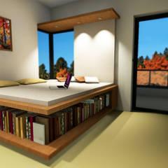 CUBUS NOVA:  Schlafzimmer von LeontiucArchitekten