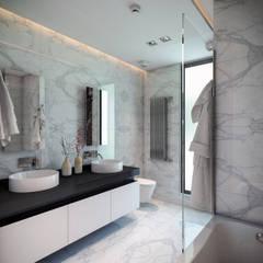 BUUN MOTTO ARCHITECTS – ATLAS TERAS  | Mersin | Turkey   :  tarz Banyo, Modern