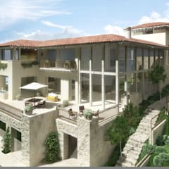 Casa Tres Marias: Casas de estilo  por Boué Arquitectos, Rústico Piedra