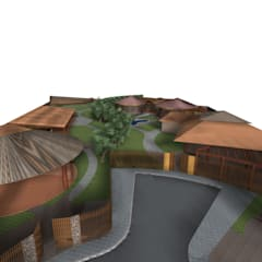 Viviendas Unifamiliares tipo Bungalow: Casas de estilo  por Constructora Arquimac C.A
