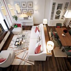 Квартира KMp: Столовые комнаты в . Автор – KYD BURO