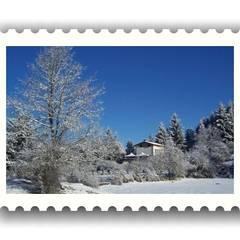 Cristalli di neve mattutina: Giardino d'inverno in stile  di immobiliare sublacense