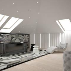 Penthouse glamour : styl , w kategorii Spa zaprojektowany przez Komplementi