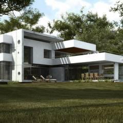 Vivienda en Grand Bell: Casas de estilo  por AMADO arquitectos