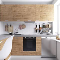مطبخ تنفيذ homify , إسكندينافي خشب Wood effect