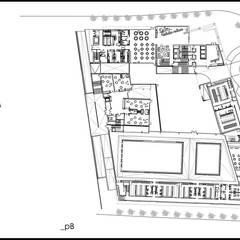 Complejo hotelero y oficinas JC1 Edificios de oficinas de estilo moderno de Quorum Arquitectos SLP Moderno