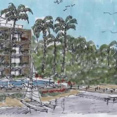 Posada Tres Marias- Boué Arquitectos : Hoteles de estilo  por Boué Arquitectos