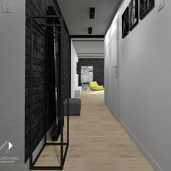 Mieszkanie,Kraków,47m2: styl , w kategorii Korytarz, przedpokój zaprojektowany przez Architekt wnętrz Klaudia Pniak