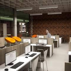 Biblioteca Pública: Edifícios comerciais  por Cíntia Schirmer | arquiteta e urbanista
