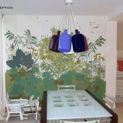 La salle à manger (ancienne loggia): Locaux commerciaux & Magasins de style  par Desjoconception