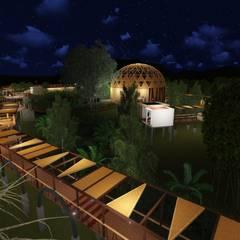 Parque de las orquideas: Jardines de estilo  por OrCA