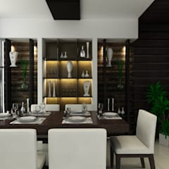 Singh Residence:  Dining room by Space Interface,Modern