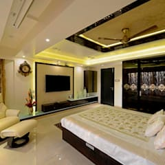 RESIDENTIAL PENTHOUSE INTERIORS:  Bedroom by AIS Designs