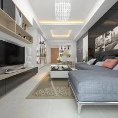 Living room by Creazione Interiors