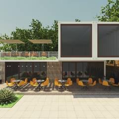 Projetos comerciais com reuso de contêineres: Adegas industriais por Cíntia Schirmer | Estúdio de Arquitetura e Urbanismo