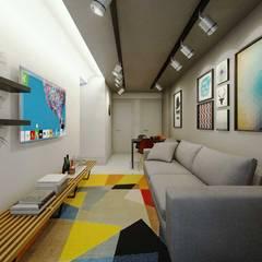 Apartamento Uruguai: Salas de estar  por fpr Studio
