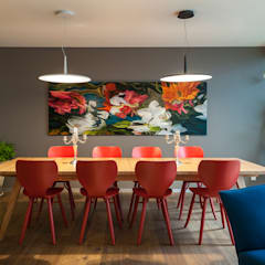 eclectic Dining room by MAAD arquitectura y diseño