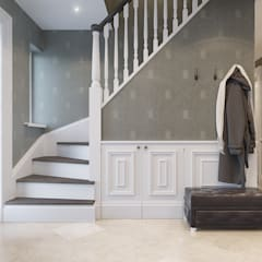 House on St.George Hill:  Corridor & hallway by EVGENY BELYAEV DESIGN