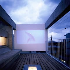 بلكونة أو شرفة تنفيذ スズケン一級建築士事務所/Suzuken Architectural Design Office