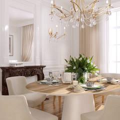 Beausoleil: Salle à manger de style de style Méditerranéen par ZR-architects