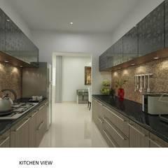 Kolte Patil Mirabillis apartment: modern Kitchen by Dutta Kannan architects