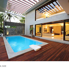 PMR Residence:  Pool by Dutta Kannan architects