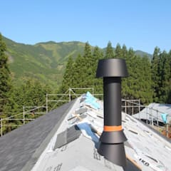 日本のスイスに建つ家: 株式会社粋の家が手掛けた家です。,コロニアル