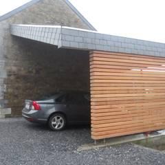 Projet M-Or: Garage / Hangar de style de style Moderne par Aj-architectes sprl
