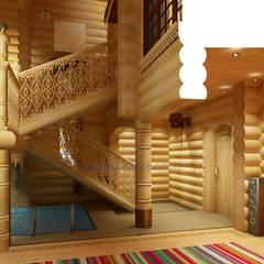 สปา โดย Дизайн студия 'Дизайнер интерьера № 1', คันทรี่ ไม้ Wood effect