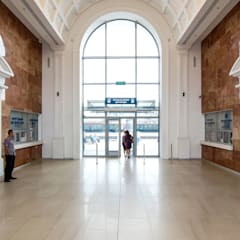 entrance hall interior:  Airports by VALENTIROV&PARTNERS