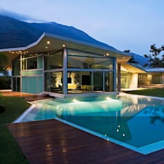 Casa AG: Piscinas de estilo  por oda - oficina de arquitectura,