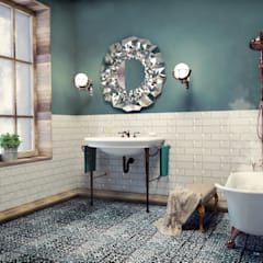 Relajación de un baño: Baños de estilo  por SIMPLE actitud, Ecléctico Cerámica