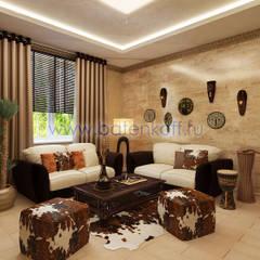 Дизайн проект каминной в частном особняке в Сысерти : Рабочие кабинеты в . Автор – Дизайн студия 'Дизайнер интерьера № 1',