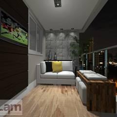 Apartamento - Mais Verde e Arte Morumbi: Terraços  por LAM Arquitetura | Interiores