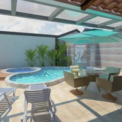 IN15@: Terraços  por Nankyn Arquitetura & Consultoria