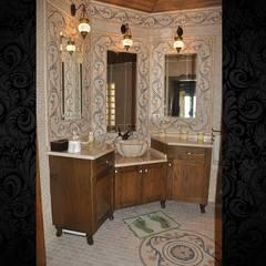 NSA NATURAL MARBLE – DOĞAL TAŞ SANATI: rustik tarz tarz Banyo