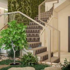 Jardines de invierno de estilo  por Tatiana Zaitseva Design Studio
