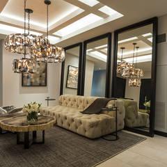 DEPARTAMENTO EN LOMAS: Pasillos y recibidores de estilo  por HO arquitectura de interiores