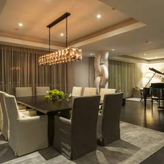 DEPARTAMENTO EN LOMAS: Comedores de estilo  por HO arquitectura de interiores, Clásico