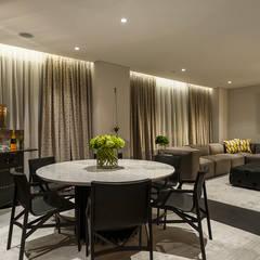 DEPARTAMENTO EN LOMAS: Salas multimedia de estilo  por HO arquitectura de interiores,